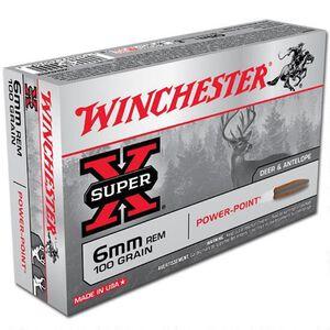 Winchester Super X 6mm Rem Ammunition 200 Rounds, PP, 100 Grains