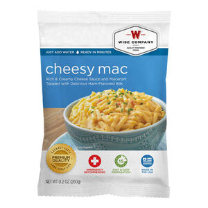 Wise Company Freeze Dried Cheesy Macaroni 4 serving packages