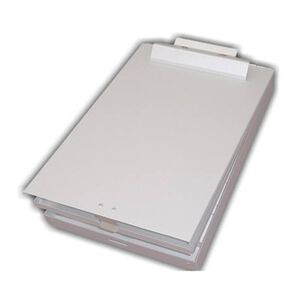 Posse Box Aluminum Letter Size Bottom Opening Storage Clipboard, Silver