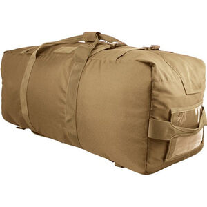 Red Rock Gear Explorer Duffle Pack 75.5 Liter Capacity Dividers 600D Polyester Coyote