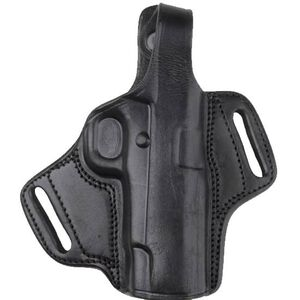 Bulldog Cases Deluxe Molded Leather Holster with Thumb Break Right Hand Mini Autos with Laser Black LMH-XSZ
