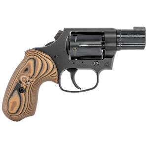 "Colt Night Cobra .38 Special +P Revolver 2"" Barrel 6 Rounds Front Night Sight Hyena Brown G10 Grip DLC Finish Black"