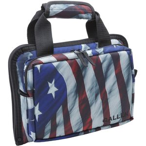 Allen Victory Duplex Attache Pistol Case 2 Pistols US Flag