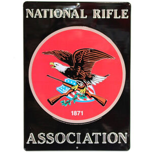 "Open Road Brands ""NRA"" Embossed Tin Sign 10""x14"""