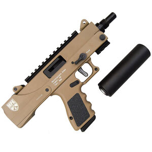 "Masterpiece Arms Defender Pistol 9mm 5.5"" Barrel 17 Rounds Threaded Muzzle FDE"
