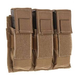 Tac Shield Triple Pistol Magazine MOLLE Pouch Nylon Coyote T3603CY