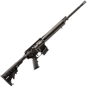 "Alexander Arms Lightweight AR-15 Semi Auto Rifle 6.5 Grendel 18"" Fluted Barrel 10 Rounds G10 Composite Freefloat Handguard M4 Collapsible Stock Black"