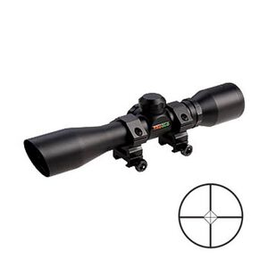"TRUGLO Shotgun 4x32 Compact Scope Diamond Ballistic Reticle 1"" Matte Black TG8504BD"