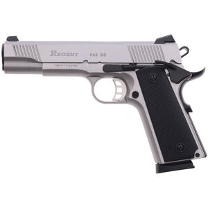 """Regent P45 SS .45 ACP 1911 Government Size Semi Auto Pistol 5"""" Barrel 8 Rounds Stainless Steel"""
