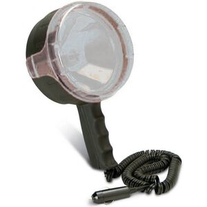 Cyclops THOR Halogen Spotlight 3.5 Million Candlepower Rechargable 12 Volt Adapter 6 Foot Coiled Cord Black CYC-S35012V