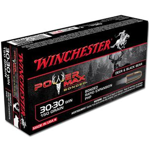 Winchester Power Max .30-30 Winchester Ammunition 20 Rounds PHP 150 Grains X30306BP