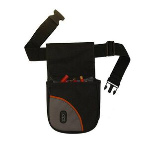 Bob Allen Club Series Divided Shell Pouch with Belt Nylon Black