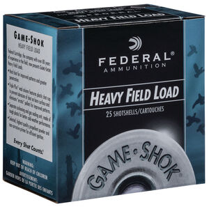 "Federal Game Shok Upland Heavy Field Load 20 Gauge Ammunition 2-3/4"" #7.5 Lead Shot 1 Ounce 1165 fps"