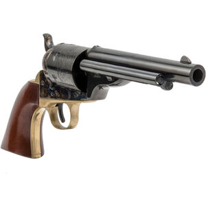 "Cimarron Firearms 1872 Open Top Navy .38 Special Single Action Revolver 6 Rounds 5.5"" Barrel Walnut Grips Case Hardened/Blued Finish"