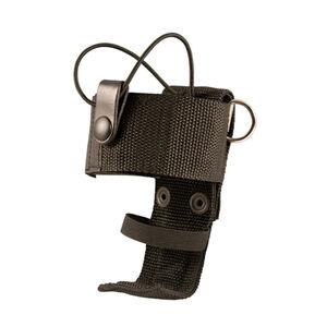 Boston Leather 5487 Deluxe Adjustable Radio Holder D-Rings Nylon Black 5487RC-5