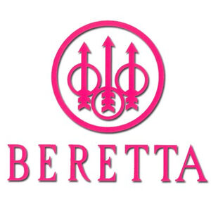 Beretta Car/Suv Window Sticker Pink DECAL34