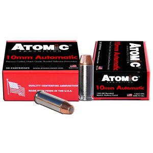 Atomic 10mm Auto Ammunition 20 Rounds 180 Grain Bonded Match Hollow Point 1225fps
