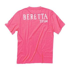 Beretta Women's Team Beretta Short Sleeve T-Shirt Size XX-Large Poly Mesh/Cotton Twill Pink