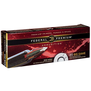 Federal Premium Nosler .300 Winchester Short Magnum Ammunition 20 Rounds 180 Grain Nosler Accubond 2960fps