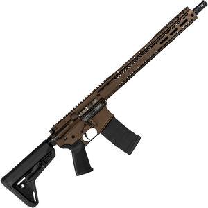 "Black Rain BRO SSP 5.56 NATO AR-15 Semi Auto Rifle 16"" Barrel 30 Rounds M-LOK Compatible Free Float Handguard Collapsible Stock Midnight Bronze Cerakote Finish"