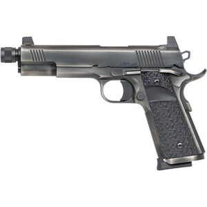 """Dan Wesson Wraith 9mm Luger 1911 Semi Auto Pistol 5.75"""" Threaded Barrel 10 Rounds Full Size Government Profile G10 Grips Distressed Duty Finish"""
