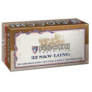 Fiocchi .32 S&W Long Ammunition 50 Rounds 97 Grains Lead Round Nose 800fps