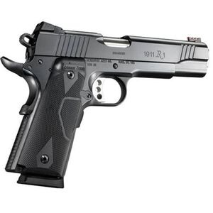 "Remington 1911 R1 Enhanced with Crimson Trace Laser Grips Semi Automatic Pistol .45 ACP 5"" Barrel 8 Rounds Satin Black Oxide Finish 96366"
