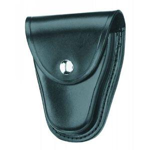 "Gould & Goodrich Handcuff Case Leather Fits 2-1/4"" Belt Chrome Snap Black Finish B70"
