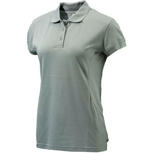 Beretta Special Purchase Women's Silver Pigeon Polo Short Sleeve Medium Cotton Ash and Silver