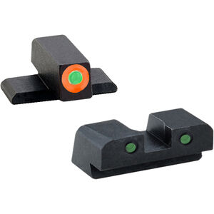 AmeriGlo Spartan Sight Set SIG Sauer #8 Tritium Night Sights Green Steel SG-446