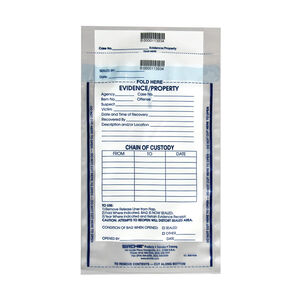 "Sirchie Integrity Evidence Bags 7.5"" X 10.5"" 3.2 Mil Thickness Tamperproof Seal Individually Numbered IEB7500"