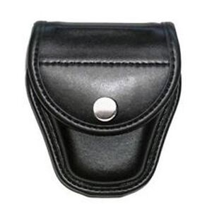 Bianchi Model 7900 AccuMold Elite Covered Handcuff Case Hidden Snap Closure Plain Black 23820