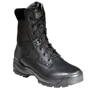 "5.11 Tactical A.T.A.C. 8"" Side Zip Boots Leather Nylon 10.5 Regular Black 12001"