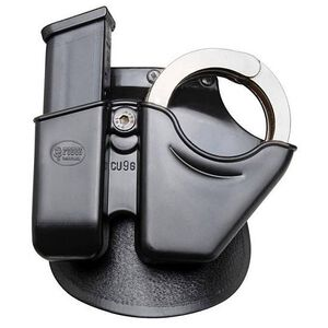 Fobus Handcuff/Magazine Combo Pouch 9mm Luger/.357 SIG/.40 S&W OWB Paddle Holster Polymer Black CU9