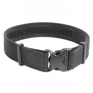 "BLACKHAWK! Reinforced 2"" Duty Belt With Loop Inner Surface Size Large 38"" to 42"" Waist Web Nylon Finish Matte Black"