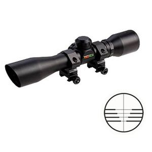 TRUGLO 4x32 Crossbow Scope Trajectory and Ranging Reticle 1/4 MOA Black TG8504B3