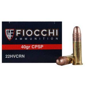 Fiocchi Hi Velocity .22LR Ammunition 40 Grain Plated LRN 1250 fps