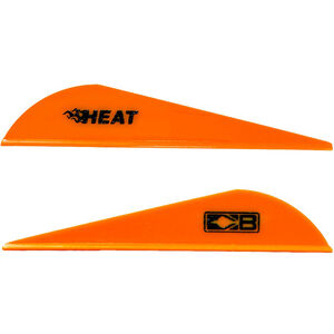 Bohning Blazer Heat Hunting Vanes 6 Grains Synthetic Neon Orange 36 Pack