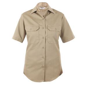 Elbeco LA County Sheriff West Coast Class A Short Sleeve Shirt Women's Size 44 Polyester /Wool Silver Tan