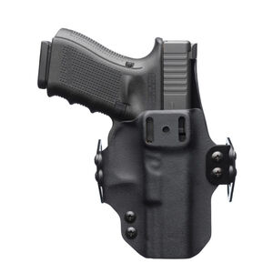 """BlackPoint Tactical DualPoint Appendix Outside The Waistband Holster GLOCK 42 Right Hand Draw 1.75"""" Strut Loop Kydex Matte Black"""