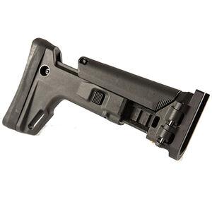 Kinetic Development Group SCAR Adaptable Stock Kit Side Folding 7 Position Adjustable Cheek Riser Polymer/Aluminum Black SCP5-010