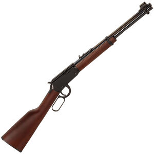 """Henry Repeating Arms Youth Lever Action Rifle .22 LR 16.125"""" Barrel 12 Rounds Adjustable Sights American Walnut Stock Blued Finish H001Y"""