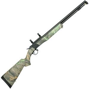"CVA Wolf Break Action Black Powder Rifle .50 Caliber 24"" Barrel Dead On Scope Mount RT Xtra Green Camo Synthetic Stock Black Nitride Finish"