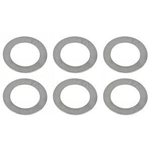 Advanced Armament Corporation 5.56 NATO 1/2x28 Shim Kit Metal Washer 6 Pack Natural Finish