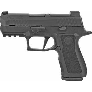 "SIG Sauer P320 XCompact 9mm Luger Semi Auto Pistol 3.6"" Barrel 15 Rounds Night Sites Polymer Grip Frame Black Finish"