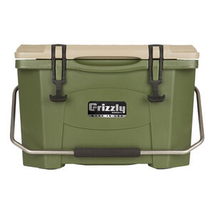Grizzly Coolers Grizzly 20 Rotomolded 20 Quart Cooler Green/Tan