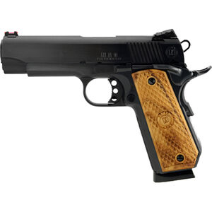 "MAC 1911 Bobcut Semi Auto Handgun .45 ACP 4.25"" Barrel 8 Rounds Wood Grips 4140 Steel Frame with Black Hard Chrome Finish"