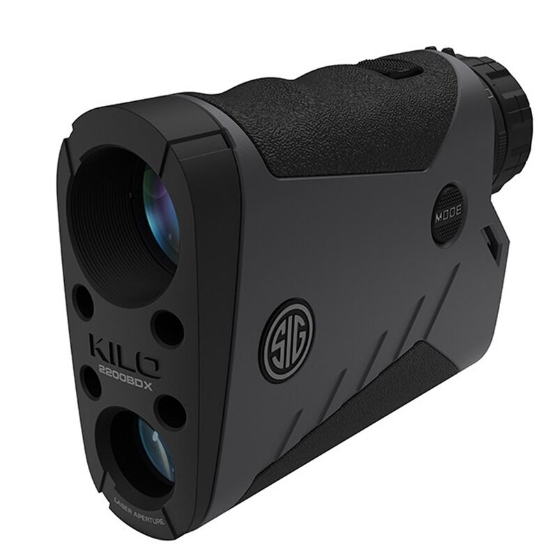 SIG Sauer Kilo2200BDX Laser Rangefinder 7x25mm Ballistic Data Xchange Compatible Milling Reticle LCD Display Graphite/Black Finish