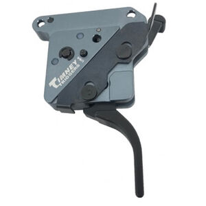 """Timney Trigger Remington 700 """"The Hit"""" Trigger Drop In Replacement Trigger Adjustable Pull Weight Straight Trigger Shoe Aluminum Housing Black Finish"""