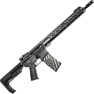 "BAD Battlearms WORKHORSE 002 5.56 NATO AR-15 Semi Auto Rifle 16"" Barrel 30 Rounds Back-Up Sights 15"" Freefloat M-LOK Compatible Handguard Collapsible Stock Black Finish"